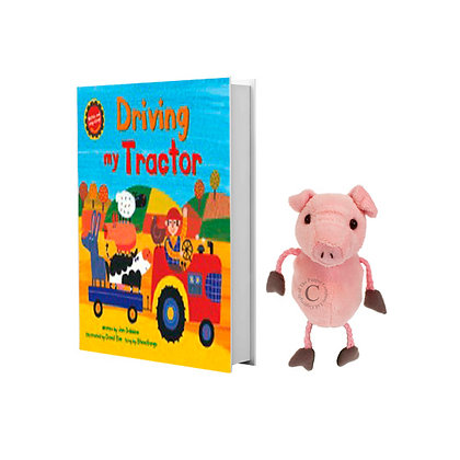 Driving My Tractor with Pig Finger Puppet