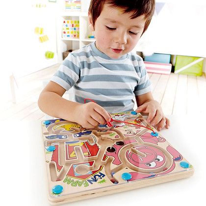Fun Farm Magnetic Wooden Toddler Maze Puzzle