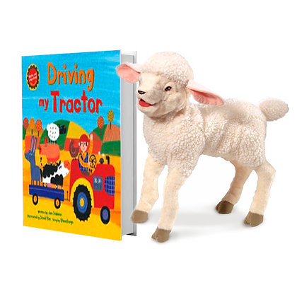 Driving My Tractor with Full-Body Lamb Puppet