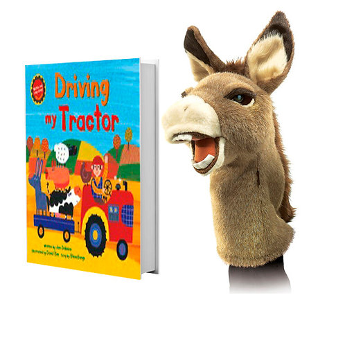 Driving My Tractor with Donkey Stage Puppet