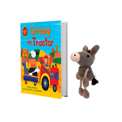 Driving My Tractor with Donkey Finger Puppet