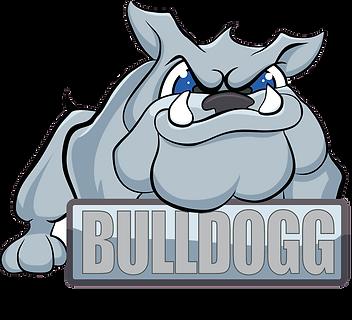 Bulldogg Custom Apparel Black Lettering.