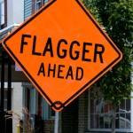 Flagger Hit by Transport Truck!!