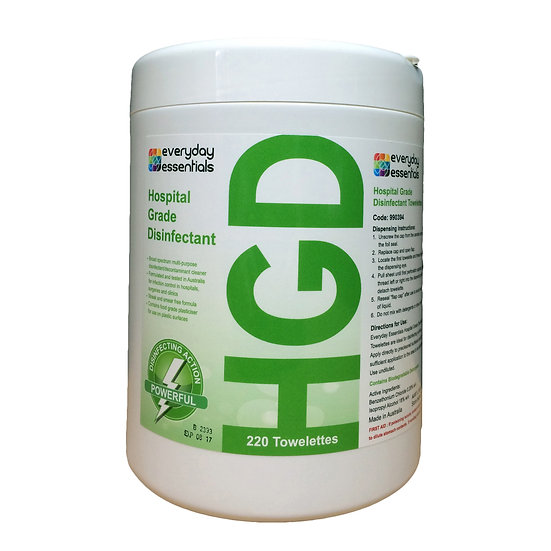 Hospital Grade Disinfectant Wipes - 100 Wipes