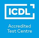 Accredited Test Centre logo_Cyan bckgrd.