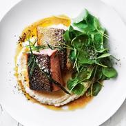 Crispy Skin Salmon With Tarragon