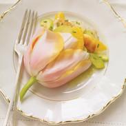 Scallop and Orange Salad in a Tulip   Ri