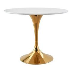 """35.5"""" Gold Pedestal Pub Table"""