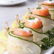 Smoked Salmon, Cream Cheese Cucumber Bites