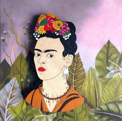 Фрида с цветами