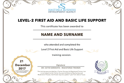 Level-2 First Aid Training Pack and Certificate