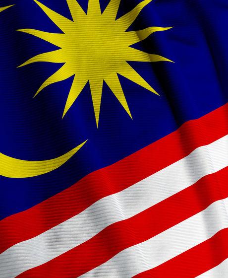 Close up of the Malaysian flag, square i