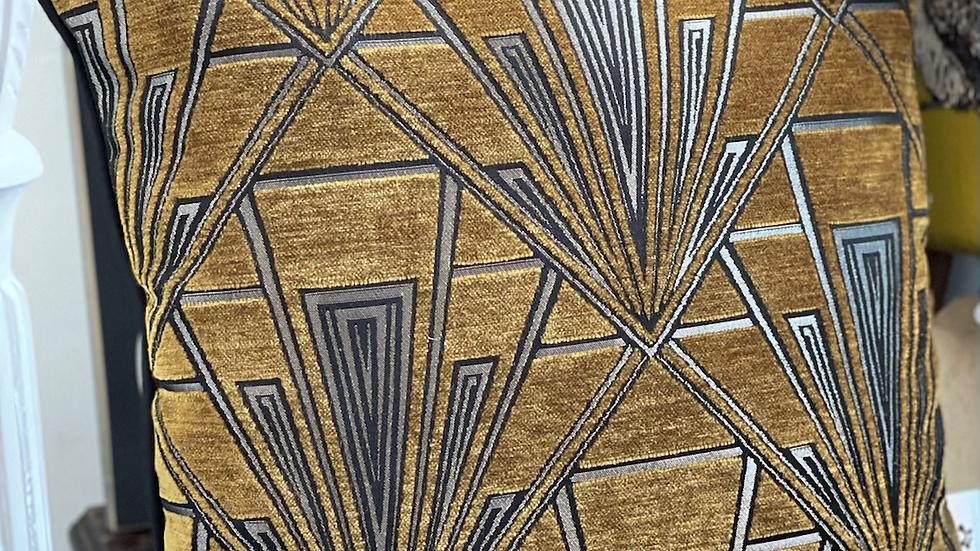 Mustard Gatsby cushion