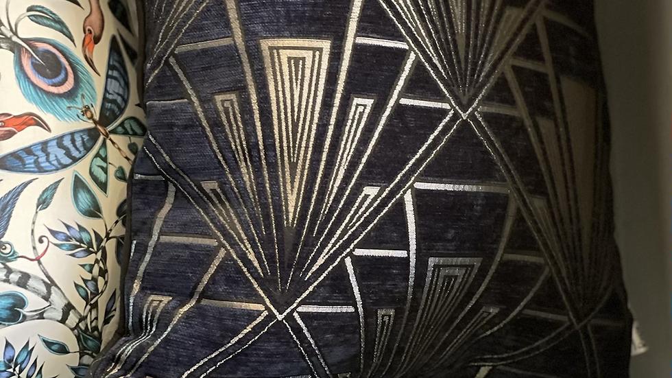 Navy Gatsby cushion