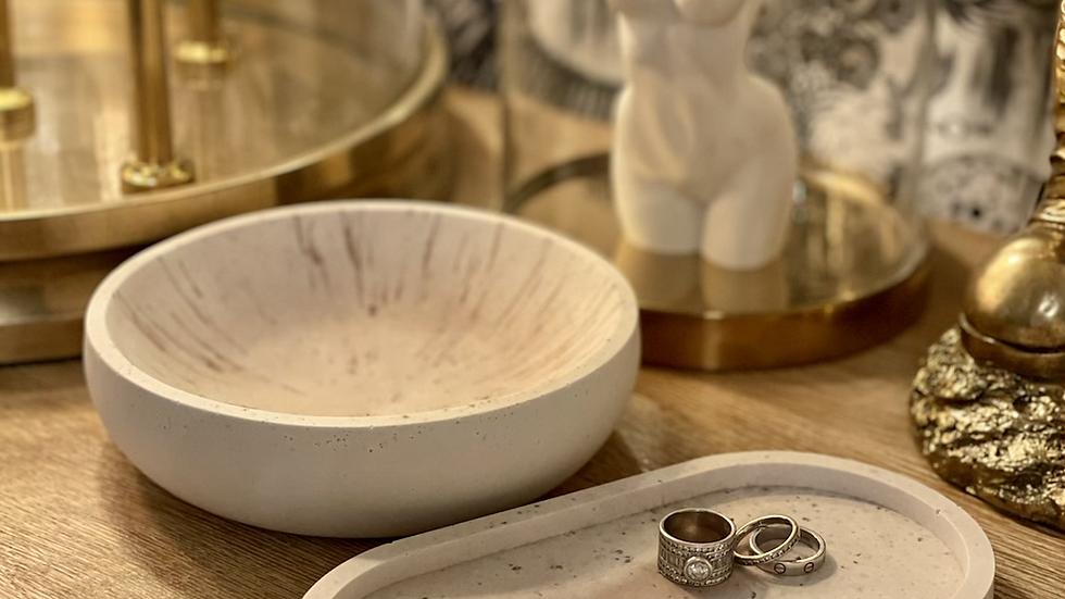 Lovely Copper/white Bowl