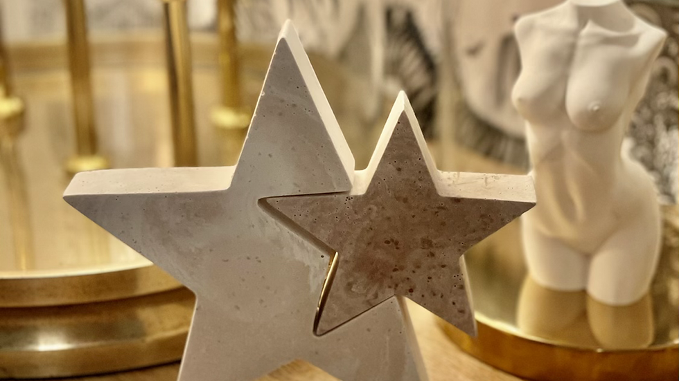 Beautiful copper/white star