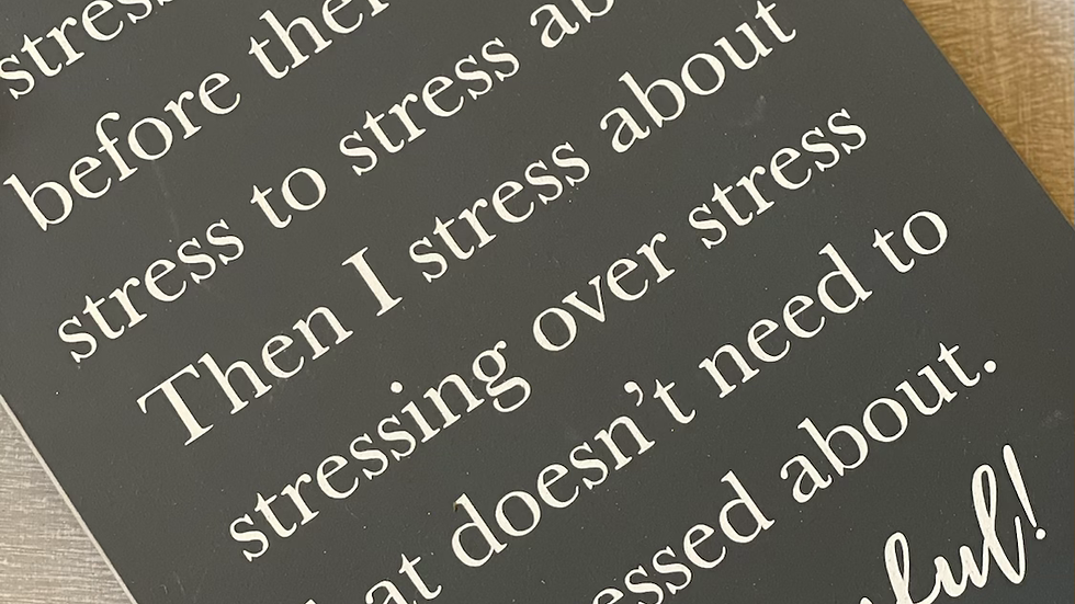 Stress sign (dark grey)