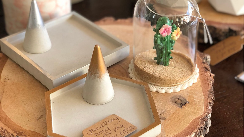 Concrete Jewellery Tray