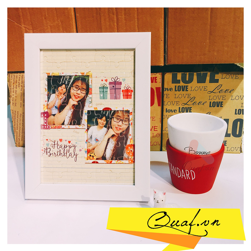 tranh ghép hình in ảnh làm quà kỷ niệm cưới bạn bè