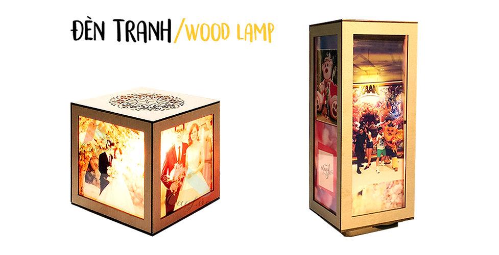 in đèn tranh gỗ, in ảnh lên đèn tranh gỗ làm quà tặng