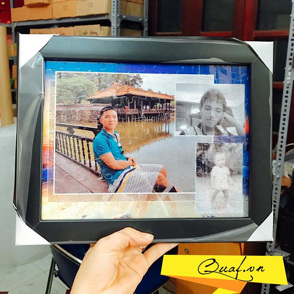 tranh ghép hình in ảnh làm quà tặng kỷ niệm cưới bạn bè