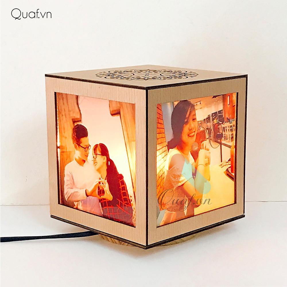 Đèn tranh gỗ in hình
