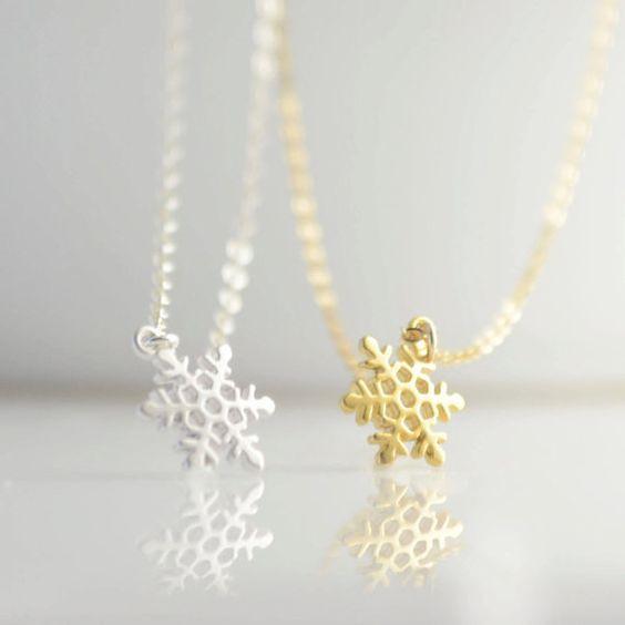 Quà Noel cho bạn gái - dây chuyền bạc bông tuyết