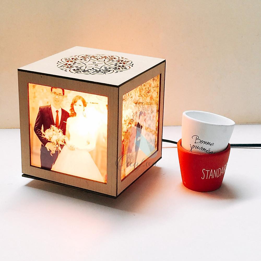 quà sinh nhật cho vợ - đèn tranh vuông