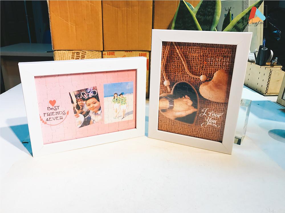 quà sinh nhật cho bạn gái - tranh ghép in hình theo yêu cầu