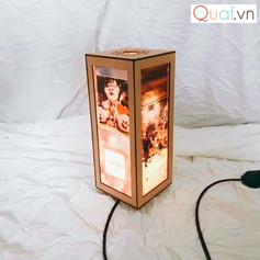 Video đèn trnah gỗ chữ nhật in ảnh