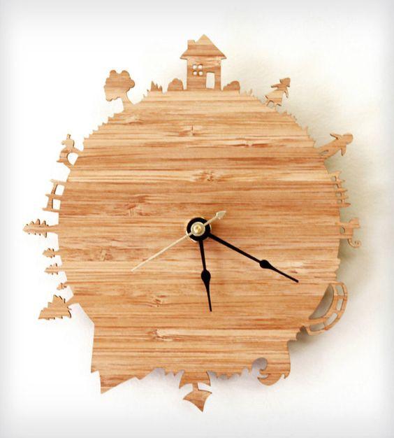Quà Noel cho bạn gái - đồng hồ gỗ khắc lazer