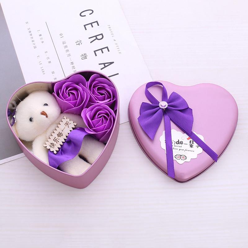 quà sinh nhật cho bạn gái - hoa gấu bông
