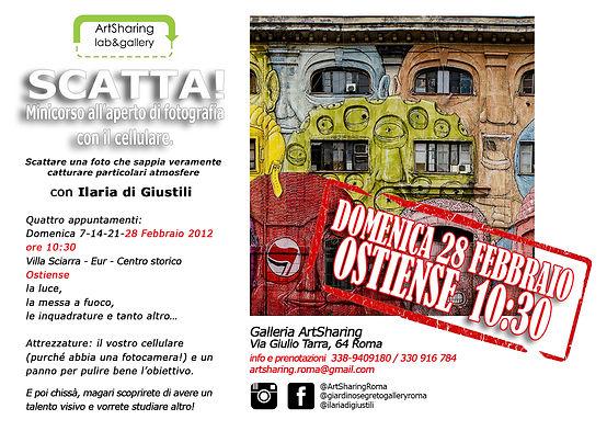 QUARTO appuntamento STREET ART OSTIENSE_
