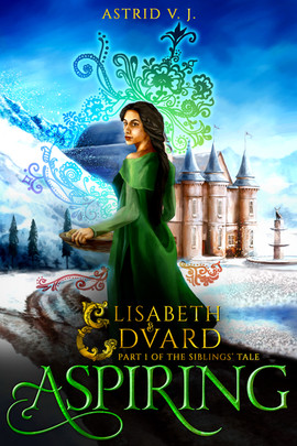The beautiful cover is the combined effort of four amazing talents. Justin Devenish created the painting, Rasha Abdulkarim designed the elements of magic emanating from Elisabeth, Theresia Schmid designed the elaborate E monogram, and Emily's World of Design put it all together.