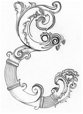 Theresia Schmid designed this amazing monogram for my Elisabeth and Edvard series