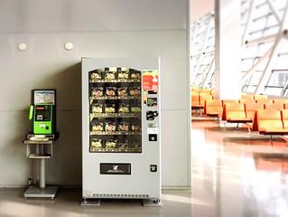 関西国際空港にカットりんご自動販売機3台設置!