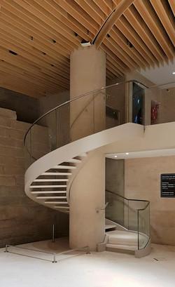 Escalier métal-verre [ 75 ]