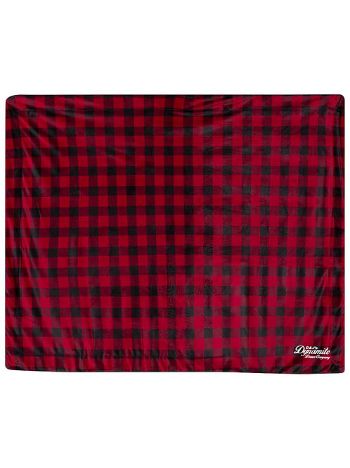 D&J Buffalo Check Fleece Blanket