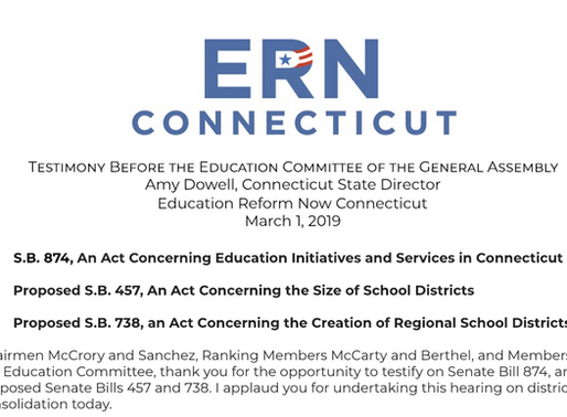 Testimony for the Education Committee of the General Assembly: Regionalization