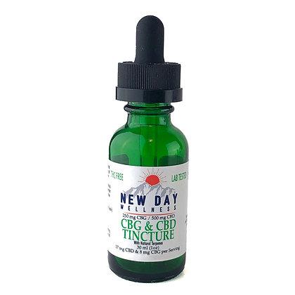 CBG / CBD  Peppermint Tincture - 250 mg CBG / 500 mg CBD -30 ml