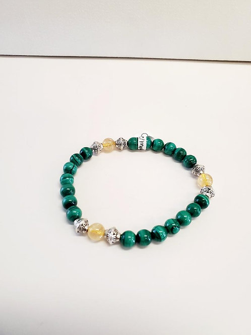 Malachite & Citrine bracelet