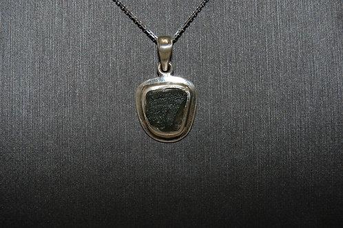 Silver Moldavite Pendant