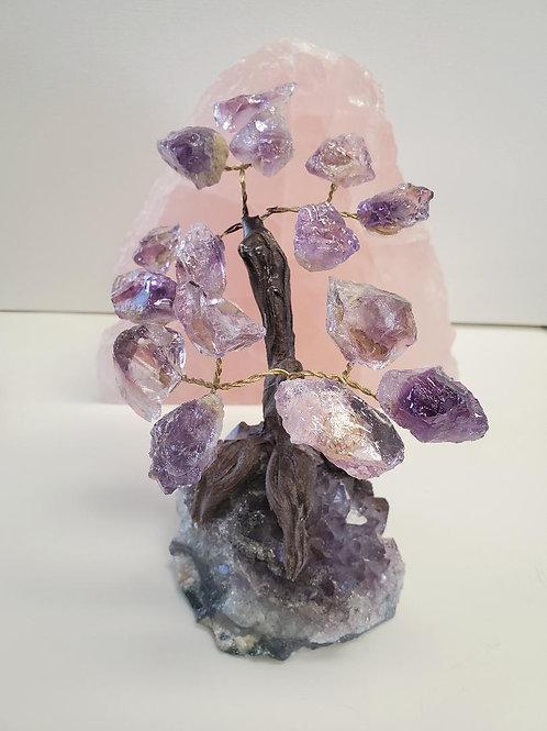 Amethyst tree with Amethyst Crystal base