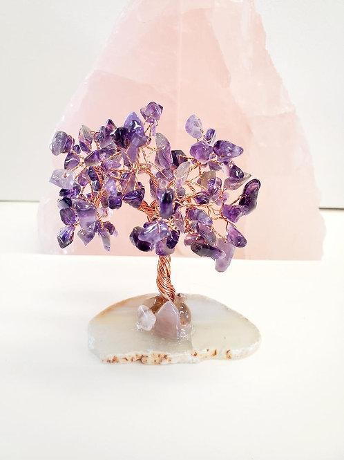 Amethyst tree, Agate base