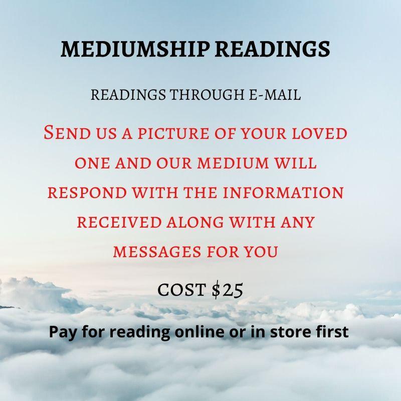 Mediumship readings via E-mail