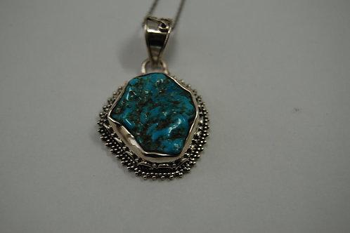 Turqouise silver pendant