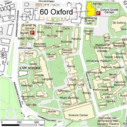 60 Oxford St map Harvard Microrobotics Laboratory