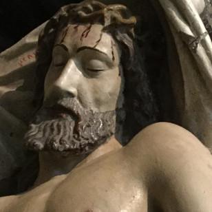 Polychrome church statue