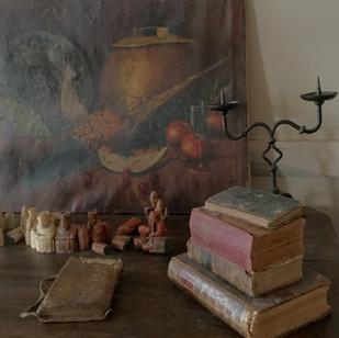 Old books in the salon