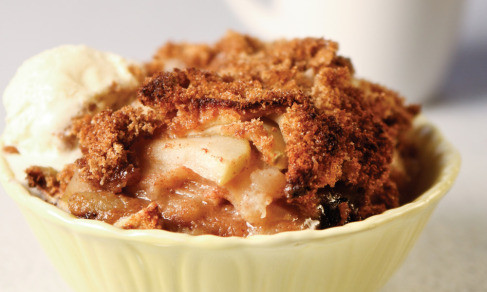 apple dessert has the perfect red apple with hints of cinnamon, brown ...
